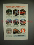 1954 Great Northern Railway Ad - 2-in-1 Vacation