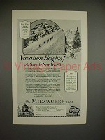 1928 Milwaukee Road Olympian Train Ad, Vacation Heights