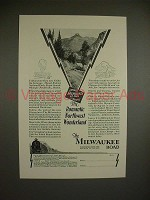 1929 Milwaukee Road Train Ad - Romantic Wonderland