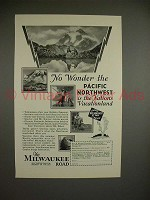 1929 Milwaukee Road Train Ad- Nation's Vacationland