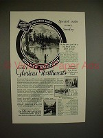 1930 Milwaukee Road Train Ad - Special Every Sunday