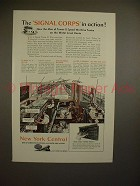1944 New York Central Train Ad - Signal Corps in Action
