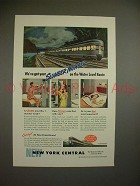 1946 New York Central Train Ad - Slumber Number