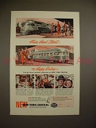 1950 New York Central Train Ad - From Head Start