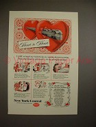 1951 New York Central Train Ad - Heart to Heart