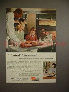 1952 New York Central Train Ad - Central Attraction