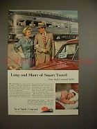1953 New York Central Train Ad - Long and Short