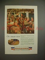 1944 WWII Pennsylvania Railroad Ad w/ Soldiers