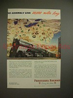 1945 Pennsylvania Railroad Ad - Assembly Line