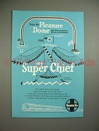 1951 Santa Fe Super Chief Train Ad w/ Eagle Dancer