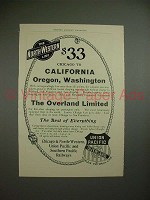 1903 Union Pacific / North-Western Line Railroad Ad