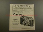 1953 Konica Camera Ad - Any Way You Look At It!!