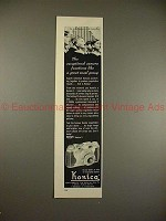 1954 Konica II Camera Ad w/ Choir Boys - Exceptional!