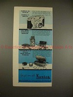 1956 Konica IIa, II and Tele-Koniflex Camera Ad - More!
