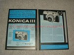 1956 2pg Konica III Camera Ad - We Took Luxury Camera!