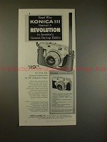 1957 Konica III Camera Ad - Started a Revolution!!