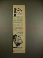 1957 Konica III Camera Ad - The Inside Story!