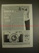 1958 Konica III Camera Ad - Better Than Ever!!