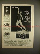 1961 Konica FS Camera Ad - Ends Ghost Images in Flash!