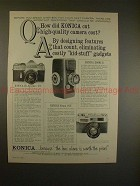 1962 Konica FS, SII and Zoom II Camera Ad - Cut Cost!!