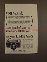 1964 Konica Auto-S Camera Ad - You want: Electric Eye!