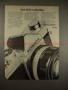 1970 Konica Autoreflex-T Camera Ad - Your SLR Obsolete!