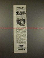 1958 Mamiya Automatic 6 Camera Ad - Quality Convenience