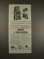 1958 Mamiya C Professional TLR Camera Ad - Focus 7 in.!
