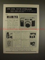 1959 Mamiya C Professional TLR & Automatic 6 Camera Ad!