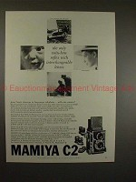 1959 Mamiya C2 TLR Camera Ad - Interchangeable Lenses!!