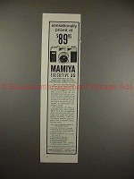 1959 Mamiya Executive 35 Camera Ad - Sensationally!!
