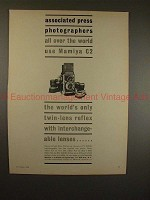 1960 Mamiya C2 TLR Camera Ad - Associated Press Use!!