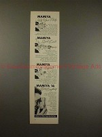 1960 Mamiya 16 Camera Ad - Party, Sports Events, NICE!!