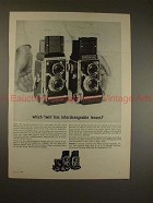 1963 Mamiya C2 and C3 TLR Camera Ad - Which Twin?!?