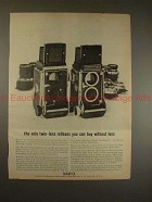 1964 Mamiya C2 and C3 TLR Camera Ad - Buy Without Lens!