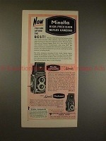 1955 Minolta Autocord & Minoltacord Camera Ad - Best!!