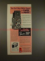 1956 Minolta Autocord TLR and Minolta A 35mm Camera Ad!