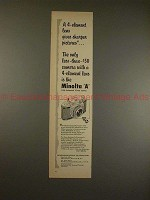 1957 Minolta A Camera Ad - 4 Element Lens Gives Sharper