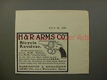 1900 H&R Arms Co. Bicycle Revolver Gun Ad - NICE!