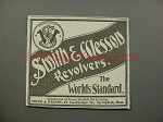1900 Smith & Wesson Revolver Gun Ad - Worlds Standard