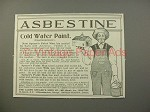 1900 Asbestine Ad w/ Speare's Paint Man - Cold Water