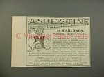 1900 Asbestine Ad w/ Speare's Paint Man - 10 Carloads