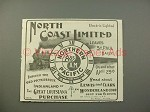 1900 Northern Pacific Railroad North Coast Limited Ad