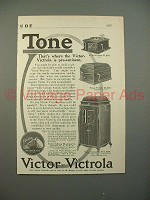 1912 Victor Victrola VI, IX and XVI Phonograph Ad!