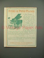 1912 Ivers & Pond Piano Ad - To Music Teachers
