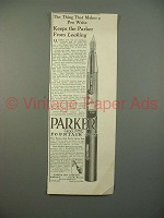 1912 Parker Lucky Curve Fountain Pen Ad - NICE
