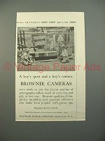 1913 Kodak Brownie Camera Ad - A Boy's Sport