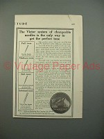1913 Victor Phonograph Needles Ad - Get Perfect Tone