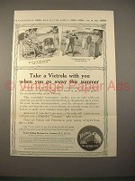1913 Victor Victrola Phonograph Ad - Take With You
