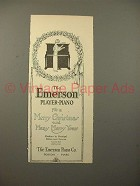 1913 Emerson Player Piano Ad - Many Merry Years